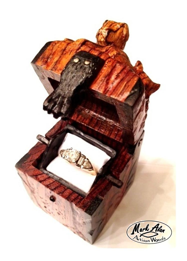 ring box, artisan ring box